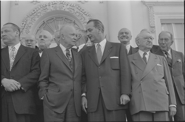 president-dwight-d-eisenhower-standing-with-lyndon-b-johnson-centerjohn-foster-1024